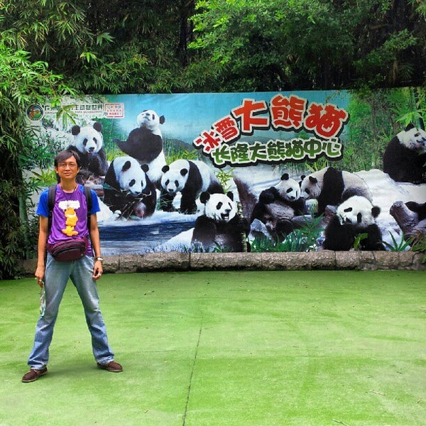 Photo taken at Xiang Jiang Safari Park, Guangzhou by Carmen B. K. on 8/22/2012