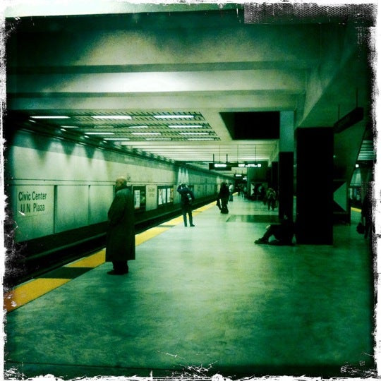 Photo taken at Civic Center/UN Plaza BART Station by Jose I. on 1/15/2011