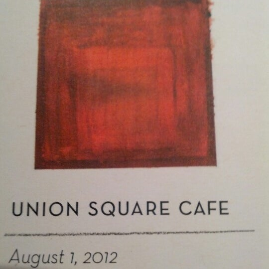 Photo taken at Union Square Cafe by Steve C. on 8/1/2012