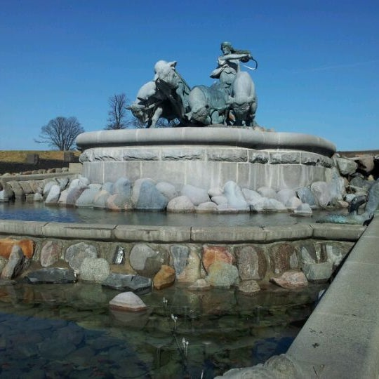 Photo taken at Gefion Fountain by Jan Friborg J. on 3/21/2012