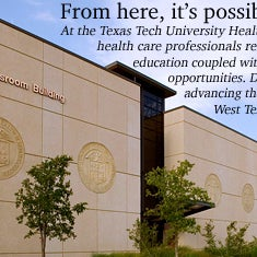 The Texas Tech University Health Sciences Center (often abbreviated TTUHSC) offers programs in Allied Health Sciences, Biomedical Sciences, Medicine, Nursing, and Pharmacy.