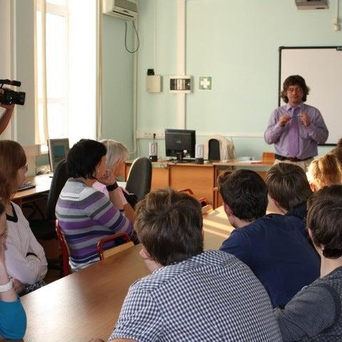 Снимок сделан в Институт математики и информатики (ИМИ МГПУ) пользователем Ilya C. 11/22/2011