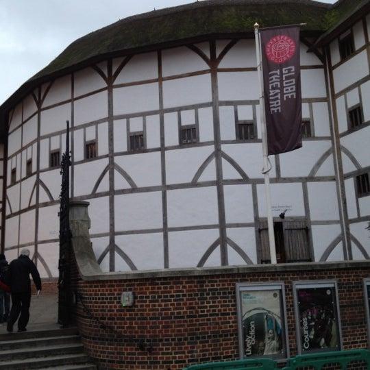 Photo taken at Shakespeare's Globe Theatre by summerneverfeltsogood . on 1/4/2012