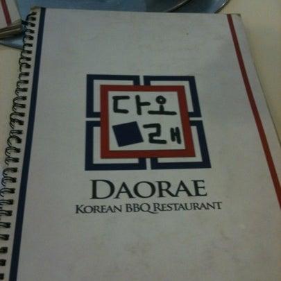 Photo taken at Daorae Korean BBQ Restaurant by Weisheng L. on 8/20/2012
