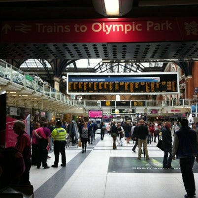 Photo taken at London Liverpool Street Railway Station (LST) by Darryl H. on 7/31/2012