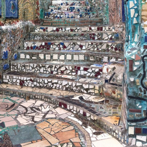 Photo taken at Philadelphia's Magic Gardens by Heather P. on 9/2/2012