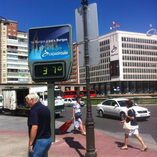 Photo taken at Plaza De España by Samuel C. on 8/17/2012