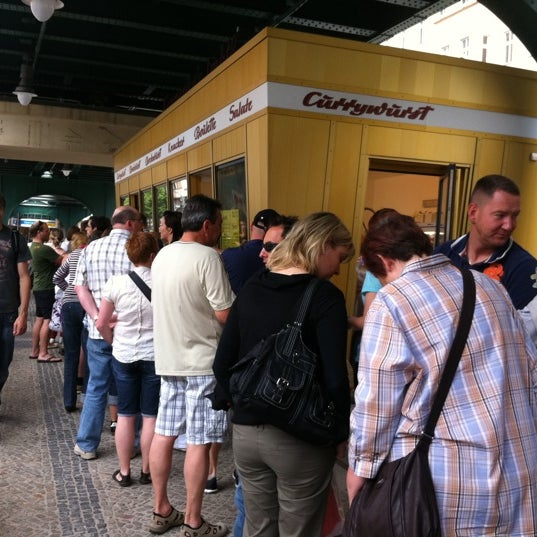 Photo taken at Konnopke's Imbiß by Tom B. on 6/11/2011