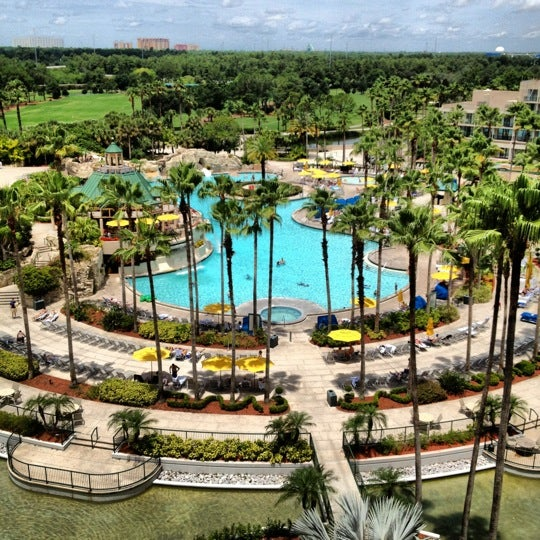 Photo taken at Marriott World Center Pool by Mary A. on 6/9/2012
