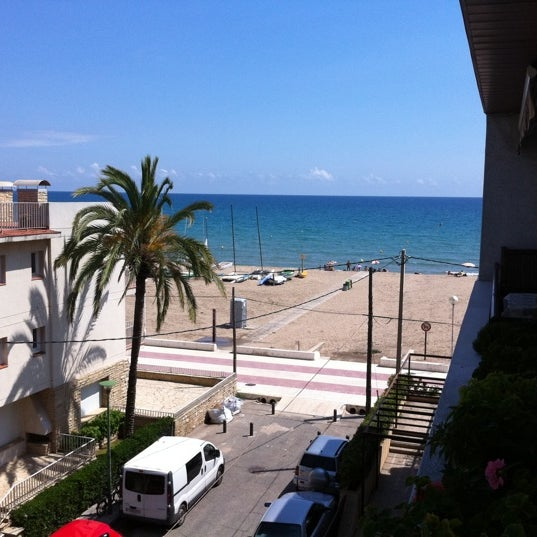 Photo taken at Platja de Calafell by Army Surplus Z. on 7/31/2011