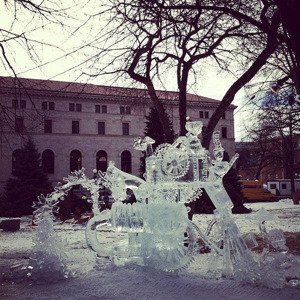 Photo taken at Rice Park by Garrio H. on 1/28/2012