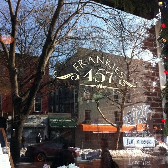 Photo taken at Frankies 457 Spuntino by Oz L. on 1/1/2011