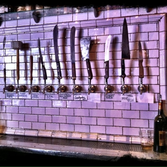 Get a gallon of good beer (the tap handles are meat cleavers!) and share with your table while feasting on pork.