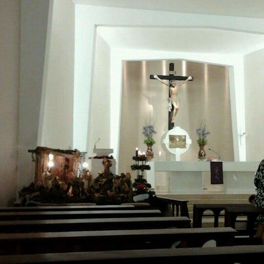 Photo taken at Paróquia Santa Mônica by Brenno E. on 12/21/2011