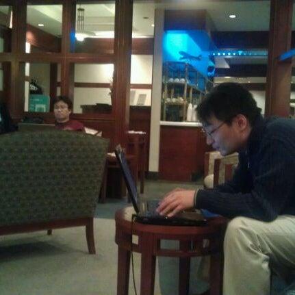 Photo taken at Korean Air Lounge by P J. on 11/10/2011