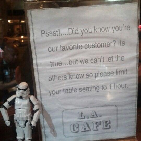 Photo taken at LA Café by @SDWIFEY on 9/2/2012