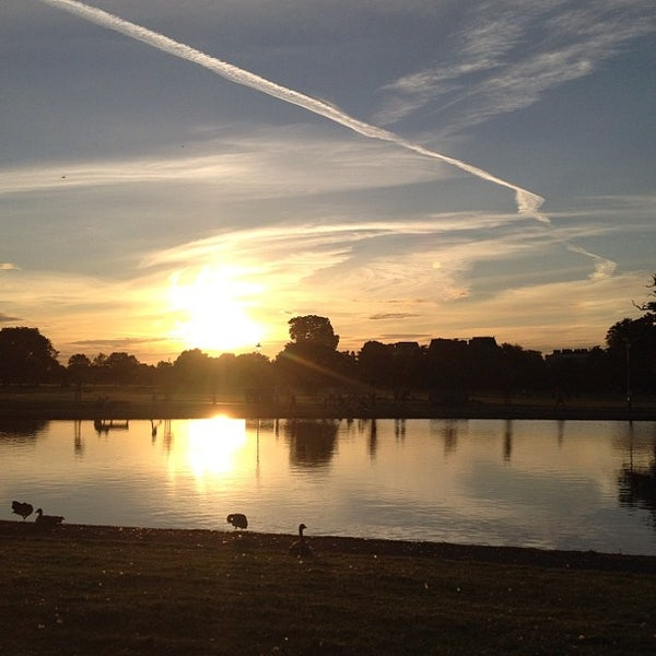 Photo taken at Clapham Common by Justin M. on 8/14/2012