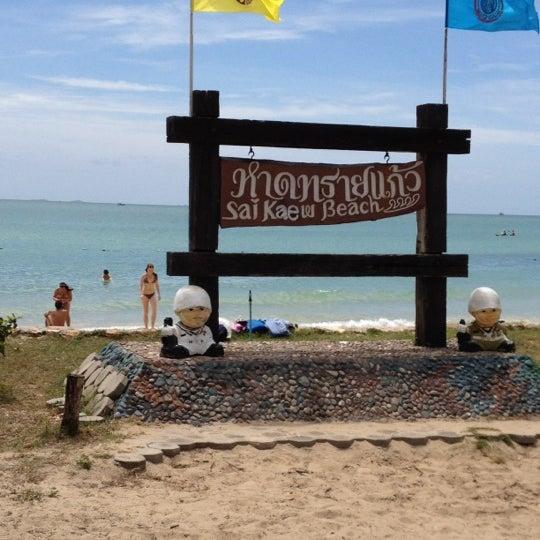 Photo taken at Sai Keaw Beach by Helado on 7/28/2012