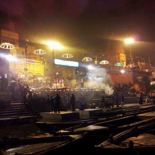 Photo taken at Dasaswamedh Ghat by Pranav K. on 1/19/2012