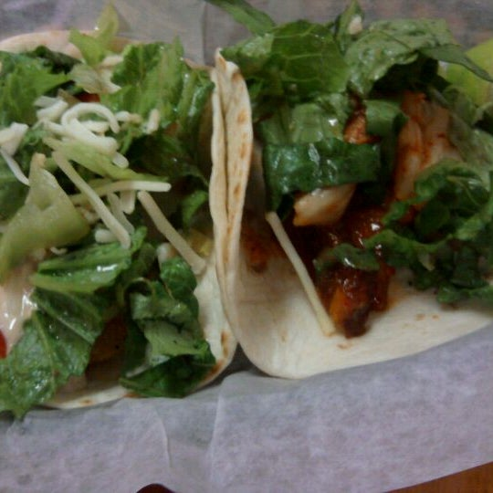 Photo taken at Hankook Taqueria by Yolanda O. on 11/28/2011