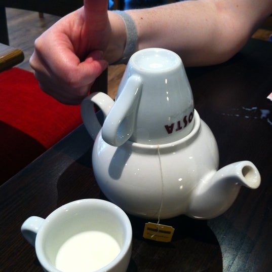 The staff are atrocious, of four drinks ordered during my time at the till, they got two wrong! When they served us the teapot came with an espresso cup lid and the milk in an espresso cup 'jug'.