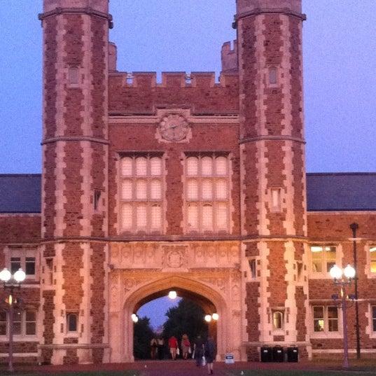 Photo taken at Washington University by tina f. on 8/12/2011