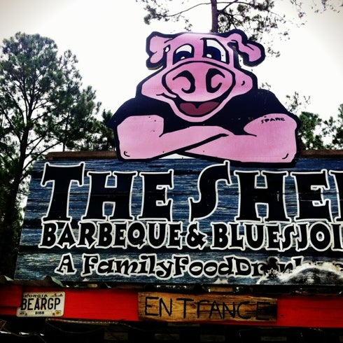 Photo taken at The Shed Barbeque and Blues Joint by Heather R. on 8/11/2012