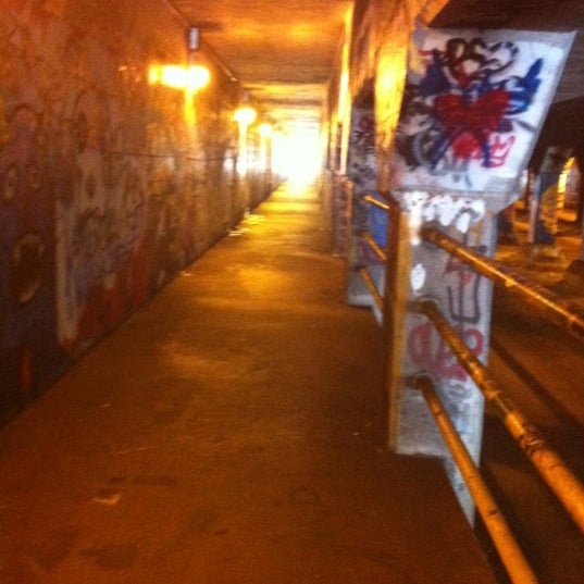Photo taken at Krog Street Tunnel by Kristina L. on 8/20/2012