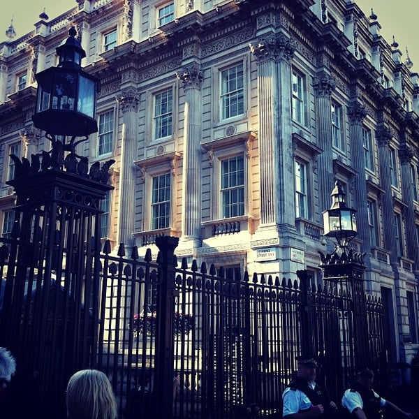 Photo taken at 10 Downing Street by Alex M. on 8/18/2012