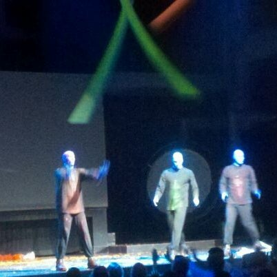 Photo taken at Blue Man Group at Universal CityWalk by Kerry R. on 1/1/2012