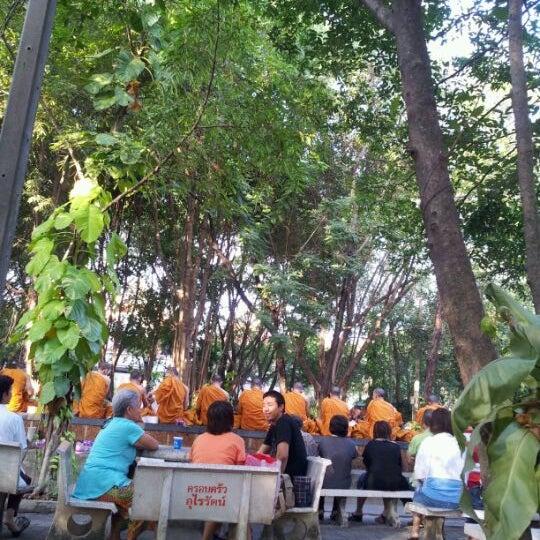 """Photo taken at ลานใส่บาตร by p!ngpong("""";) on 12/10/2011"""