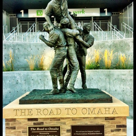 Photo taken at TD Ameritrade Park by Jonathan R. on 8/30/2012