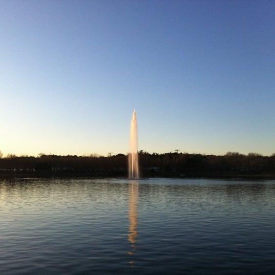 Photo taken at Lago de la Casa de Campo by Flor F. on 1/7/2012