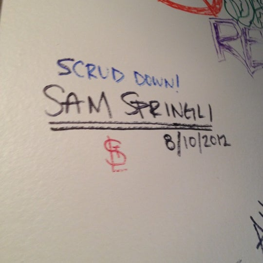 Photo taken at Scrud's Gourmet Grub by Sam on 8/11/2012
