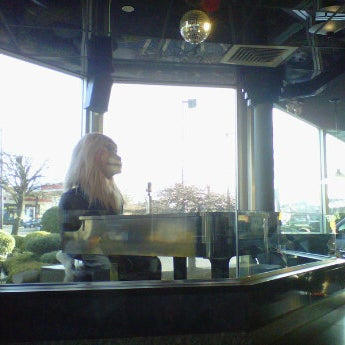 """Random trivia: The """"creepy"""" lion was originally the Mac Tonight character from the late '80's/early 90's ad campaign, and was installed when this location remodeled around that time."""