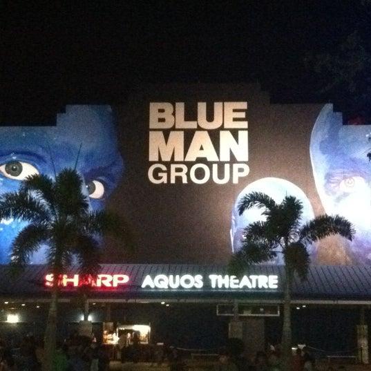 Photo taken at Blue Man Group at Universal CityWalk by Brandon L. on 3/18/2012