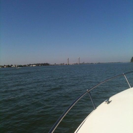 Photo taken at Rio Vista Bridge by Amber P. on 9/1/2012