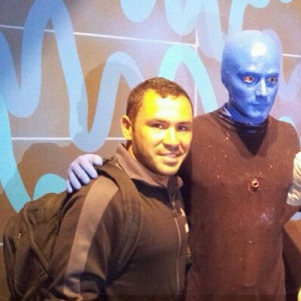 Photo taken at Blue Man Group at Universal CityWalk by Raphael N. on 4/18/2012