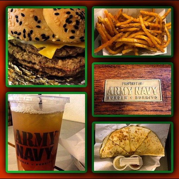 Photo taken at Army Navy Burger + Burrito by Shank M. on 9/6/2012