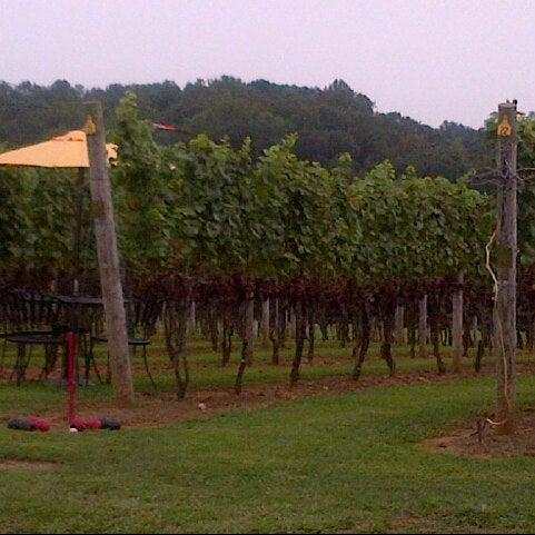 Photo taken at Three Fox Vineyards by Runnin' Donna on 8/25/2012