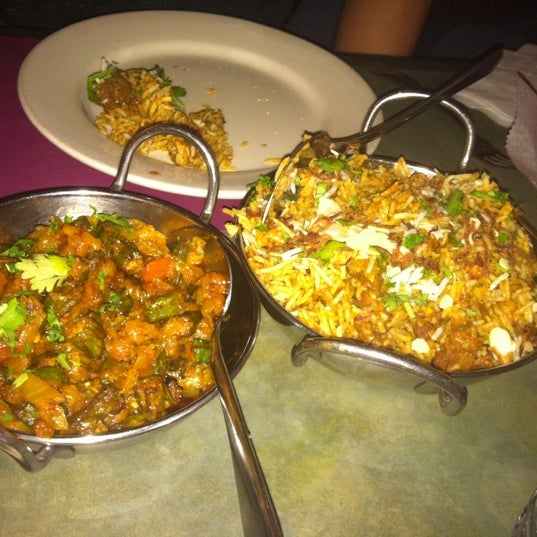Bhindi masala and goat biriyani both good.