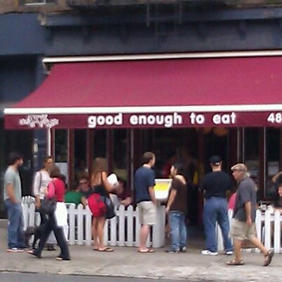 Photo taken at Good Enough to Eat by Lad D. on 9/10/2011