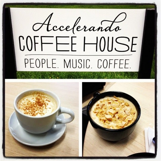 Photo taken at Accelerando Coffee House by Christi L. on 4/7/2012