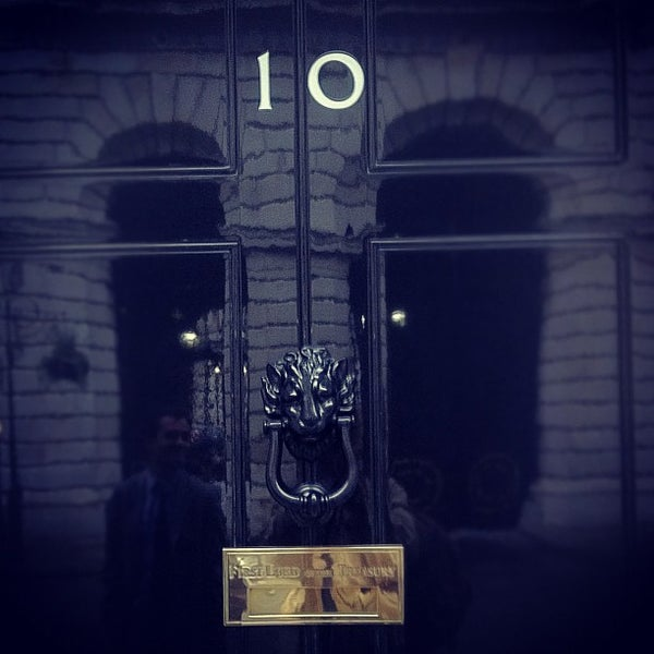 Photo taken at 10 Downing Street by Tom H. on 11/14/2011