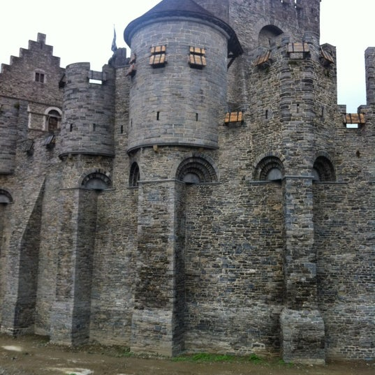 Photo taken at Castle of the Counts by Yann T. on 10/29/2011