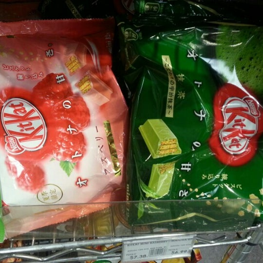 Dainobu now sells raspberry and green tea flavored KitKats for $6.99 a bag.