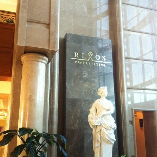 Снимок сделан в Rixos Prykarpattya пользователем Valerie A. 5/10/2012