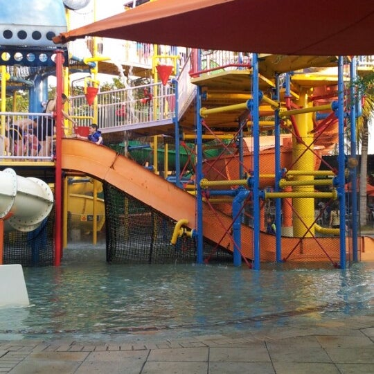 Photo taken at Waterbom Jakarta by Elena A. on 6/28/2012