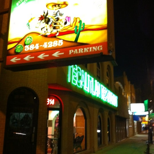 Tecalitlan Mexican Restaurant Menu