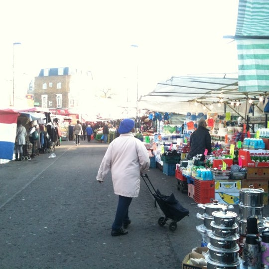 Photo taken at Ridley Road Market by The Sidewalk S. on 11/15/2011
